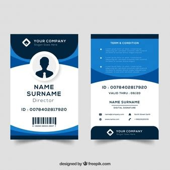 blue id card template id vectors photos and psd files free