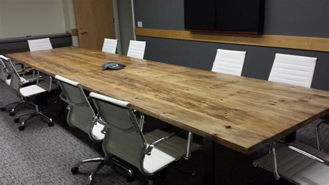 Reclaimed Wood Conference Table Reclaimed Wood Conference Table Recycled Wood Table By Beaver
