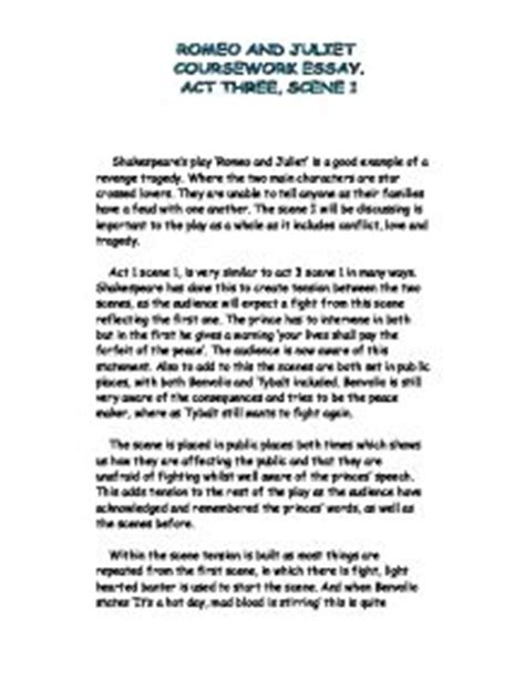 themes of revenge in romeo and juliet essay exles romeo and juliet