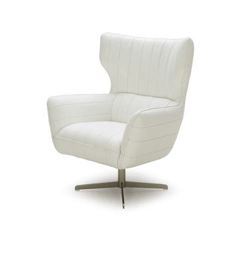 White Leather Accent Chair Divani Casa Modern White Eco Leather Accent Chair