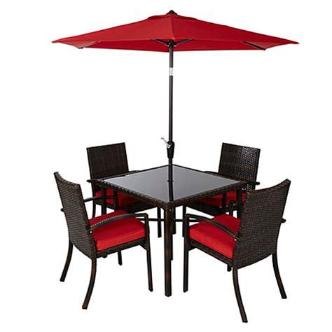 jakarta 6 patio dining set chilli garden