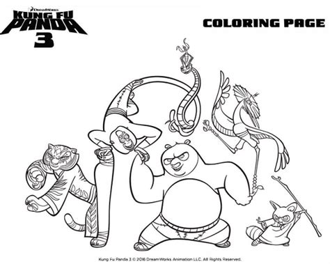 kung fu panda coloring book pages kung fu panda tigress coloring pages