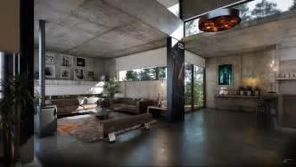 Industrial Home Design by Concrete Interior Interior Design Ideas