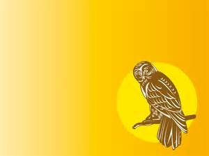 owl clipart ppt backgrounds animals yellow templates ppt grounds