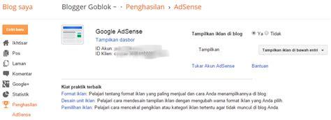 adsense di blog cara cepat memasang iklan google adsense di blog