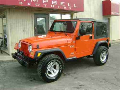 2006 Jeep Wrangler 4 Cylinder Purchase Used 2006 Jeep Wrangler X 4x4 4 0l 6 Cyl Auto