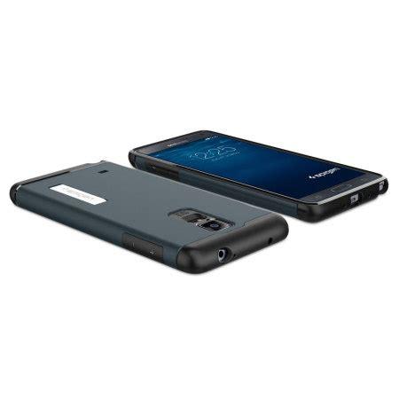 Spigen Slim Armor Samsung Galaxy Note 4 Hardcase 1 spigen slim armor samsung galaxy note 4 tough metal slate