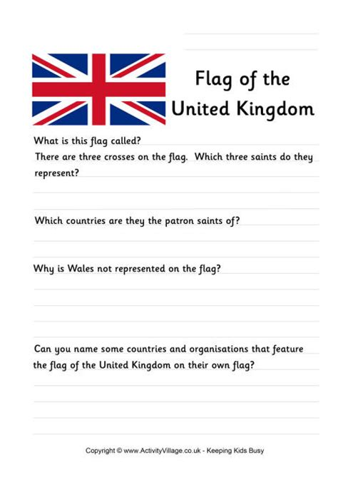 coloring page united kingdom flag union flag worksheet