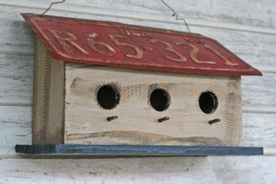 license plate birdhouse bird house kits
