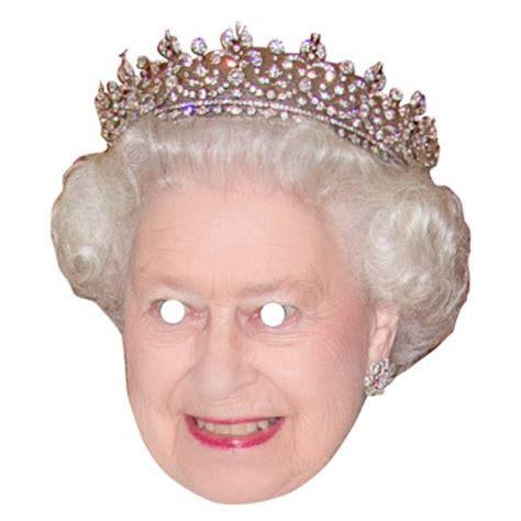printable masks queen queen elizabeth celebrity mask