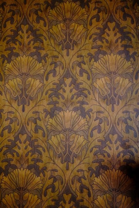 linoleum wallpaper  victorian era home  douglas