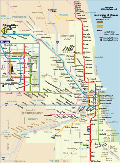 chicago metro map chicago metro images