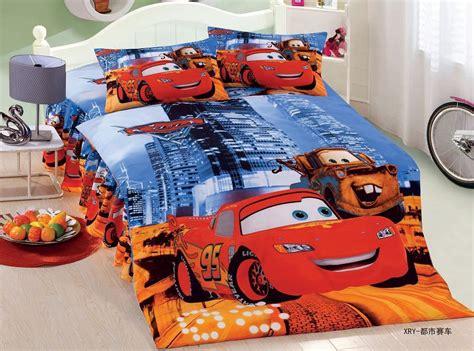 Cartoon Lightning Mcqueen Cars Bedding Sets Children Size Lightning Mcqueen Bed