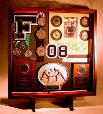 custom wood shadow boxes  sports  greg seitz