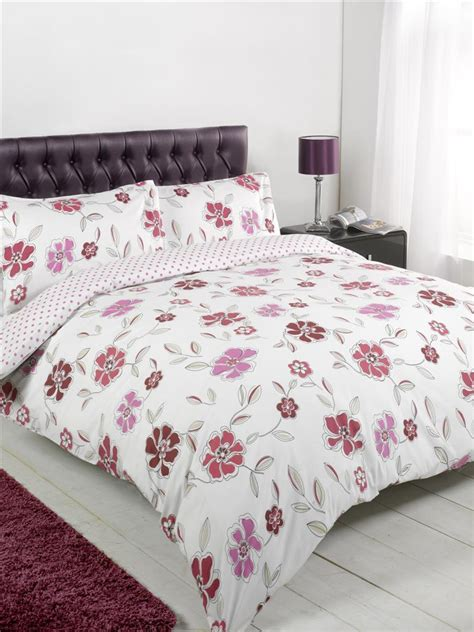 poppy bedding duvet cover set bedding single double king check poppy