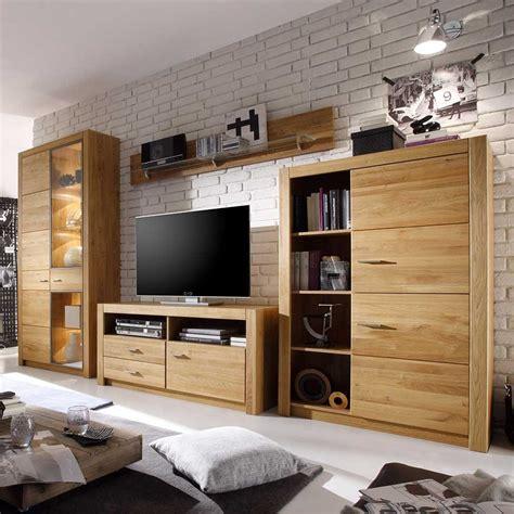 Wohnzimmer Wohnwand by Wohnzimmer Wohnwand Harris Aus Eiche Ge 246 Lt Pharao24 De
