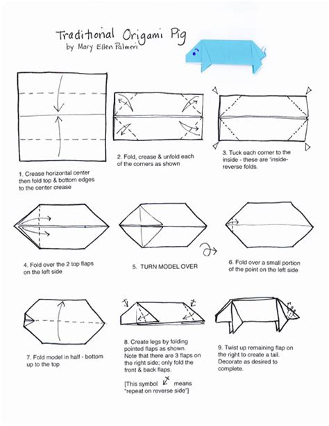 Origami Pig Diagram - november 2016 monthly feature origami page origami pig