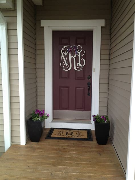 Monogram For Front Door Front Door Monogram For The Home
