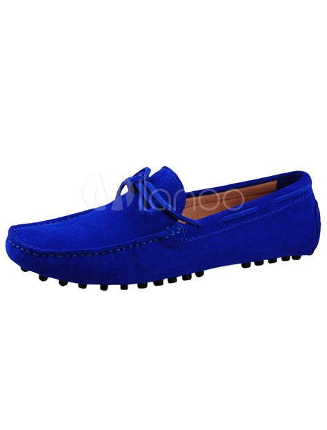 royal blue loafers for royal blue cowhide loafers chic s shoes milanoo