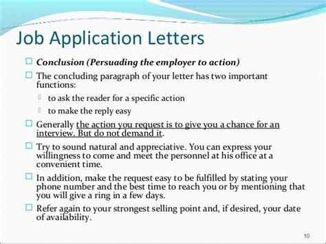 application letter last paragraph application letter conclusion