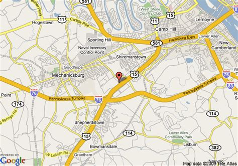 map of country inn and suites harrisburg west mechanicsburg