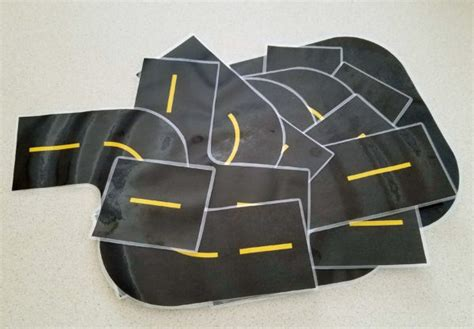 printable road pieces the printable toy car road race track set your kids will