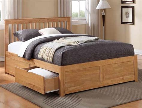 King Bed Frames With Drawers King Size Wooden Bed Frame With 4 Drawers Wooden Global