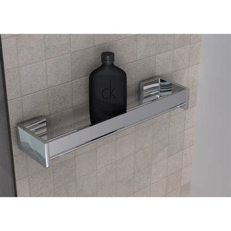 mensole doccia mensola doccia bagno cromo h6x12x45cm fissaggio adesivo 3