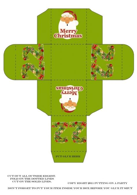 printable christmas boxes christmas printable boxes christmas pinterest