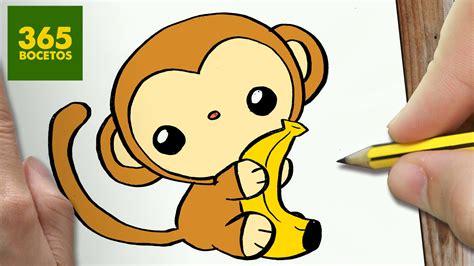 imagenes de monos faciles para dibujar como dibujar mono kawaii paso a paso dibujos kawaii