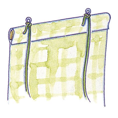 diy pull up curtains make a roll up blind attach the cord