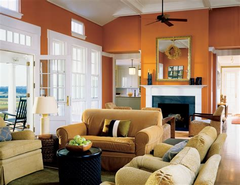 orange living rooms burnt orange wall paint dining room contemporary with aqua
