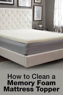 the best way to clean a memory foam mattress topper