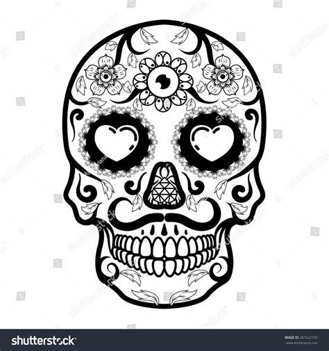 Day Of The Dead Skull Stock Vector Illustration 287522192 Day Of The Dead Skull Vector