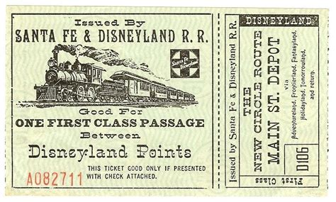 titanic boat tickets vintage disneyland tickets santa fe disneyland r r