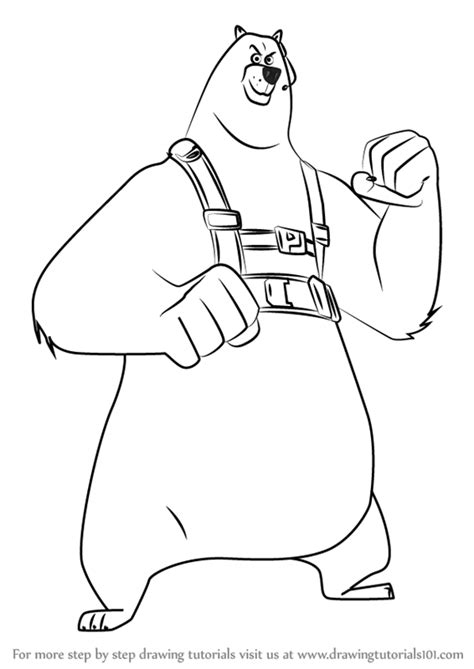 penguins movie coloring pages learn how to draw corporal from the penguins of madagascar