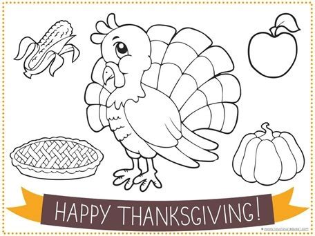 thanksgiving coloring placemats thanksgiving placemat coloring pages happy easter