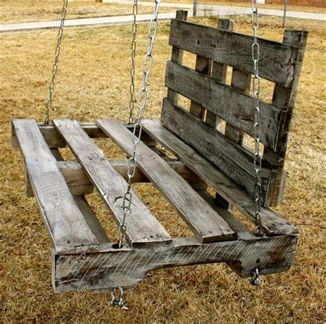Handmade Swings - handmade wood pallet swing 101 pallets