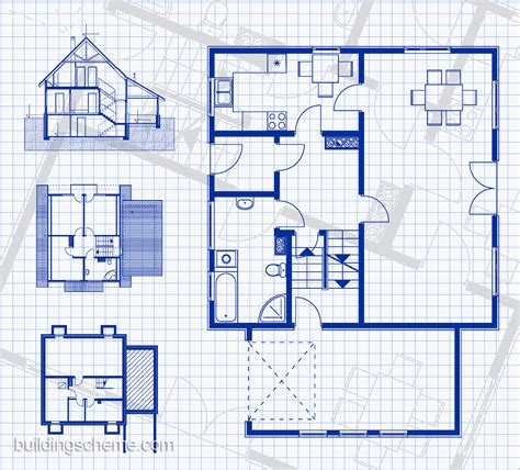 blue prints house blueprint of building plans homes floor plans