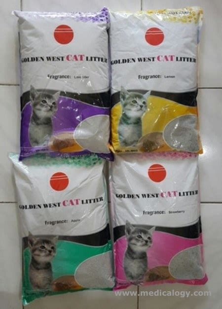 Pasir Wangi Re Pack 1kg jual pasir kucing wangi gumpal bentonite cat litter golden west 10lt murah