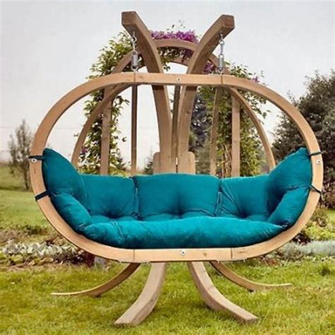 cool outdoor swings unique wooden garden swing design garden pinterest