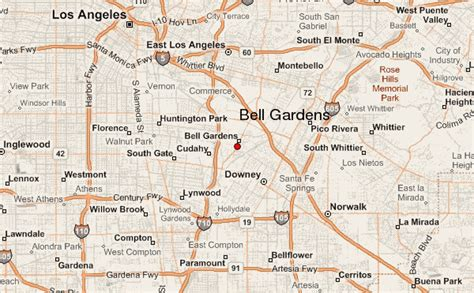 bell gardens mapa de ubicaci n los angeles county california