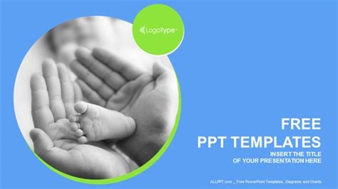 template ppt baby free touching baby recreation powerpoint templates