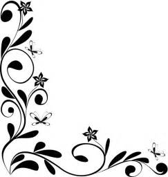 Cool frame designs black and white floral border design black and