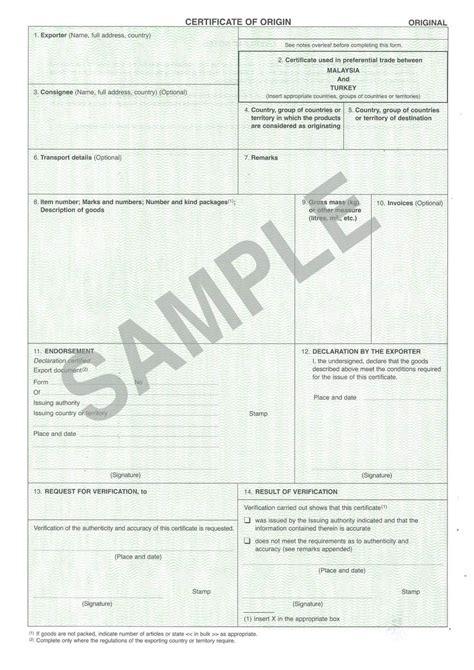 certificate of origin template uk preferential certificate of origin