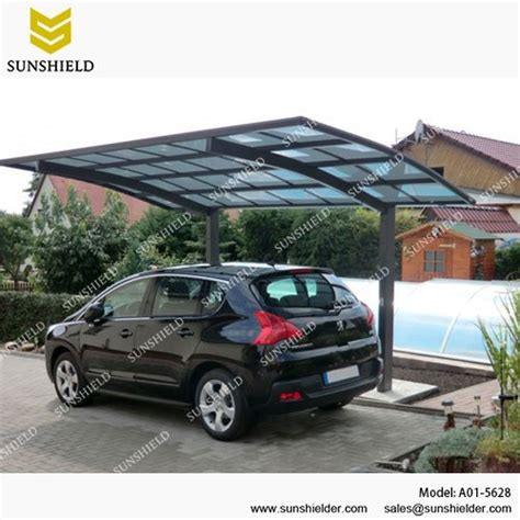 Metal Roof Car Shelter by Polycarbonate Carport Arched Roof Car Parking Shed