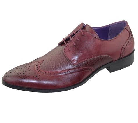 mens brogue shoes office wedding casual formal smart dress