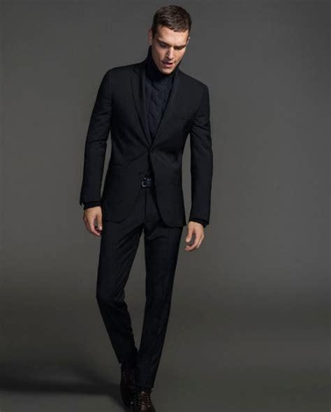 black suit matte black suit dress yy