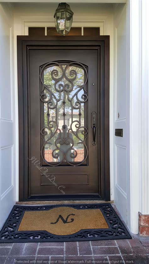 Glass And Iron Doors Vatican Square Top With Eyebrow Glass Universal Iron Doors The 1 Iron Door Store In Usa