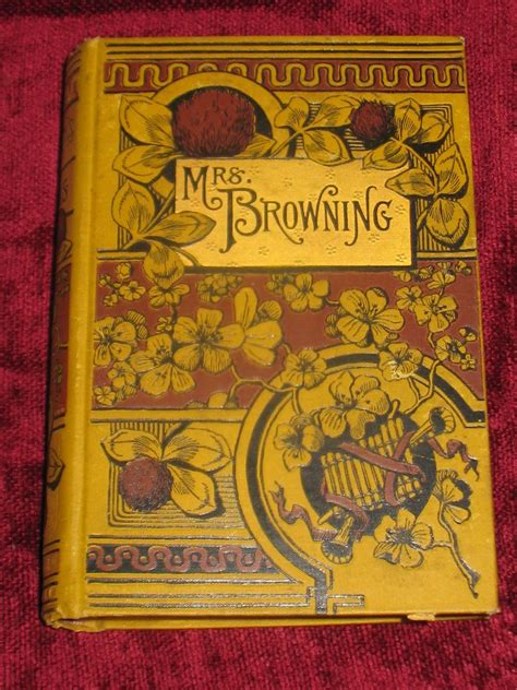 mrs miggins book of books antique book mrs browning book by elizabeth barrett